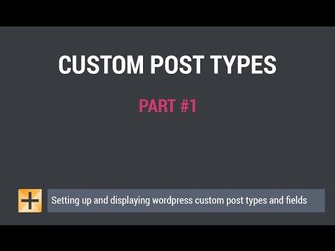 WordPress custom post types custom fields