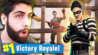 I WON WITH THE THIEF'S SKIN FALLING IN PRISON!! -Fortnite Battle Royale
