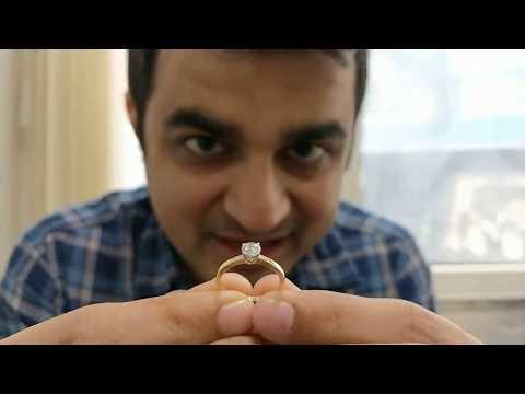 Diamond Ring Under Rs 80,000 $1100, Round Si Quality Certified Dubai - Hindi