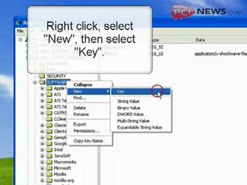 How to Create Keys in your Windows Registry