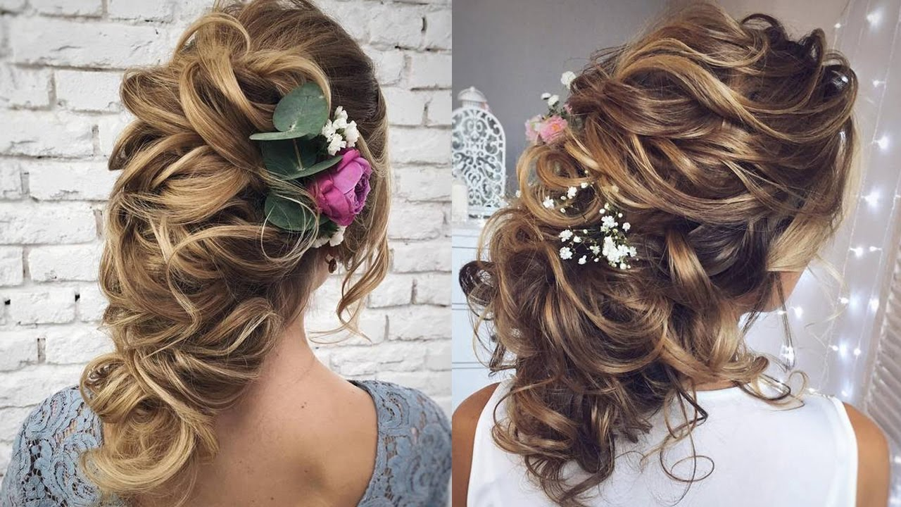 Prom Hairstyles 2019: New Wedding Hairstyles For Long Hair 2017. Prom Updos