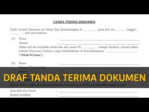 Contoh Surat Tanda Terima Dokumen Legal Akses