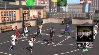 NBA 2k15 blacktop alley oop