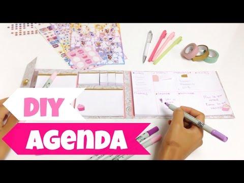 Como hacer una agenda facil y bonita libreta block de notas youtube - Como decorar una agenda ...