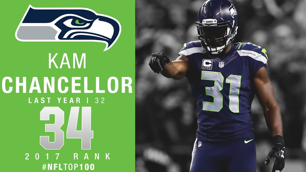 3714a6dd8a9 34: Kam Chancellor (S, Seahawks) | Top 100 Players of 2017 | NFL ...