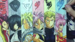Speed Drawing DragonSlayers + Other Charecters from Fairy Tail