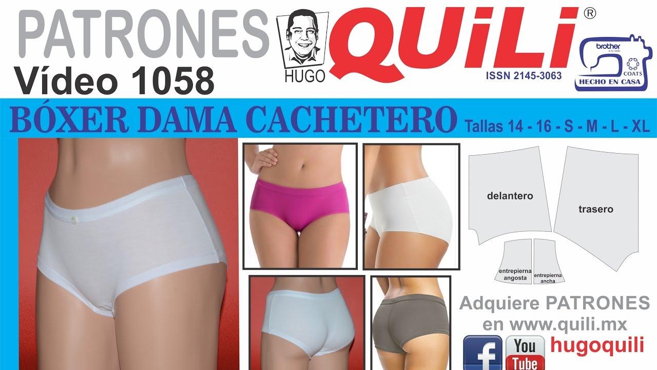 dc999cd8cb 1058 Panty BÓXER cachetero dama. CURSO DE ROPA INTIMA - YouTube