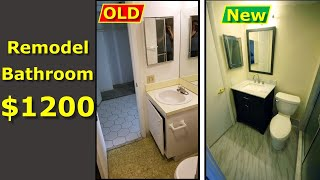 DIY Bathroom Remodel $1200 Renovation Budget - WATCH THIS!