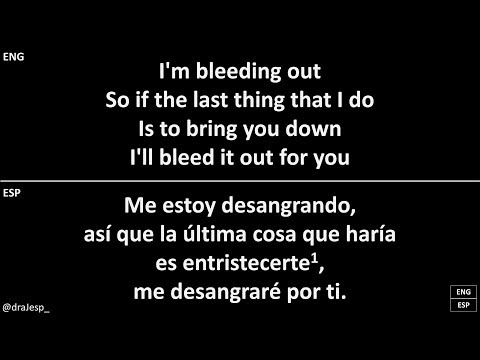 Bleeding Out Imagine Dragons Lyrics Letra Español English Sub