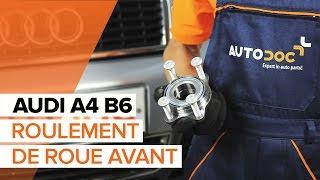 Comment remplacer des roulement de roues avant sur une AUDI A4 B6 TUTORIEL | AUTODOC