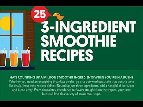 24 easy 3 ingredient breakfast smoothies recipes youtube