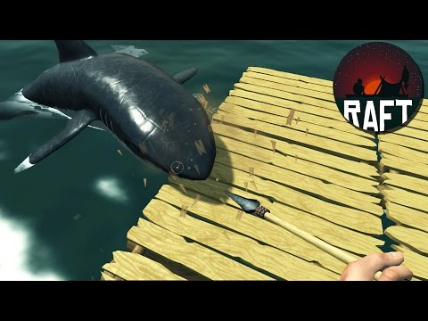 SHARK ATTACK - Amazing Ocean Survival Game - Raft Gameplay