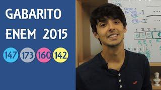 Gabarito e Resolução ENEM 2015 Caderno Azul, Questão 147   Cinza-173   Rosa-160   Amarelo-142