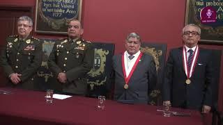 Tema:Convenio entre la Facultad de Medicina y el Ejército del Perú
