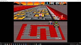 Bnes HD mode 7 BETA 2 - Mario Kart - Shortplay -