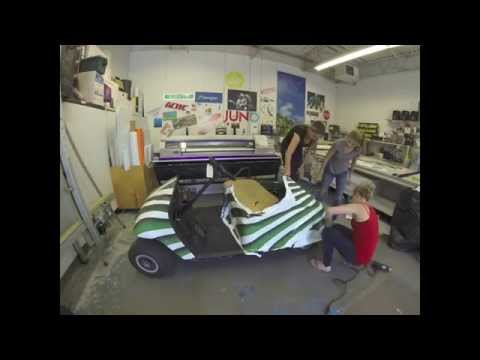 Golf Cart Vinyl Wrap - YouTube Golf Cart Vinyl Graphic Wraps on custom golf cart body wraps, yamaha golf cart graphic wraps, golf cart graphic kits,
