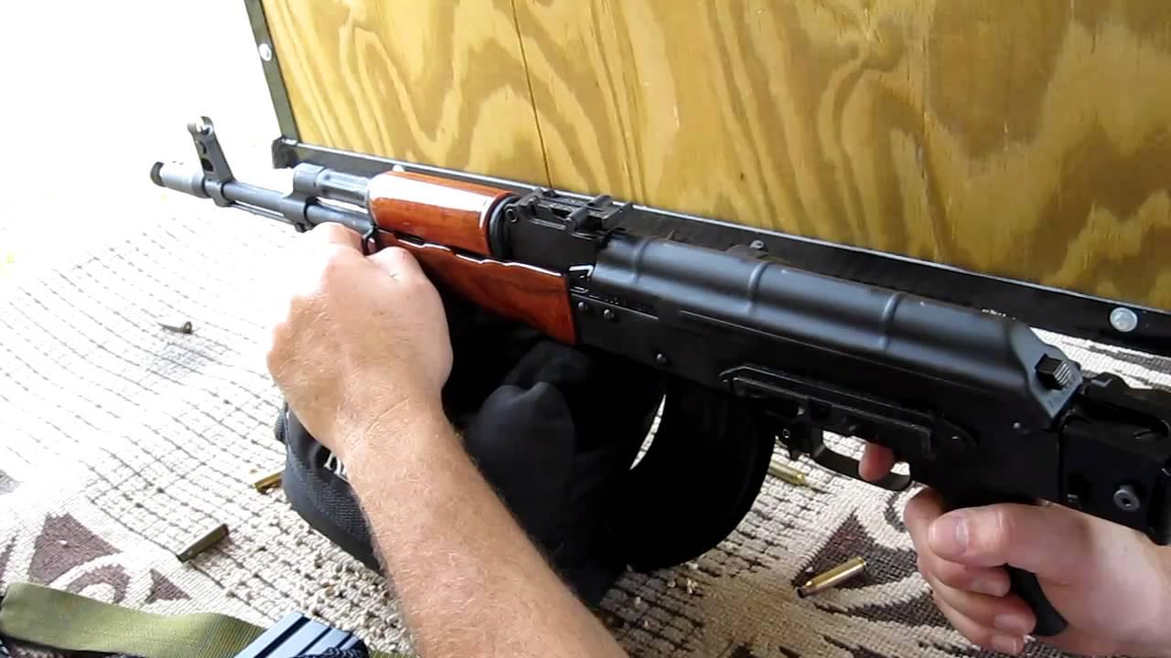 Beautiful Romanian Ak 47 Wasr 10 63 With Custom Wood Furniture Hd