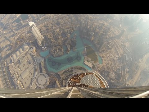 Amazing view from the Burj Khalifa - At the top SKY