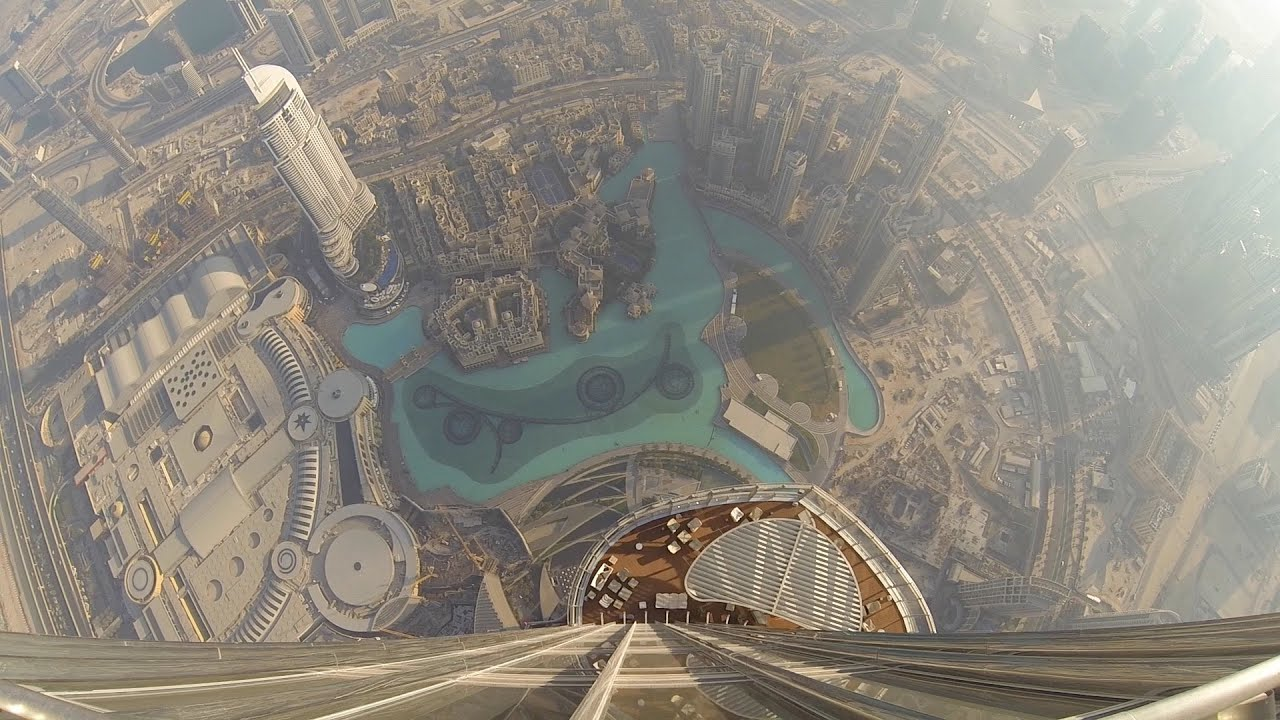 Amazing view from the Burj Khalifa - At the top SKY - YouTube