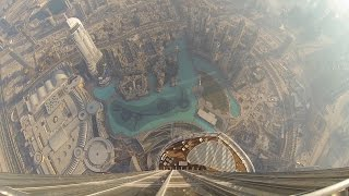 Amazing View From The Burj Khalifa   At The Top Sky