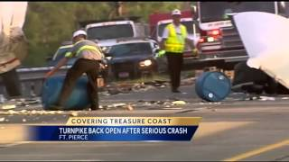 Turnpike reopens following crash involving two tractor trailers