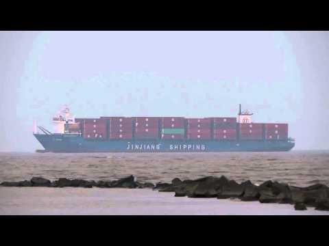 [船]コンテナ船 JJ TOKYO Container ship Coast of Shanghai 上海沖