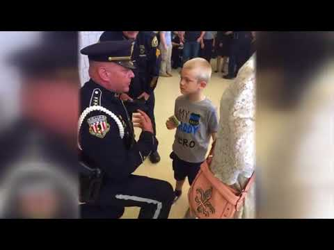 Kristina Kage - Watch 70 Cops Welcome 5 Year Old Son Of Fallen Officer Back to School