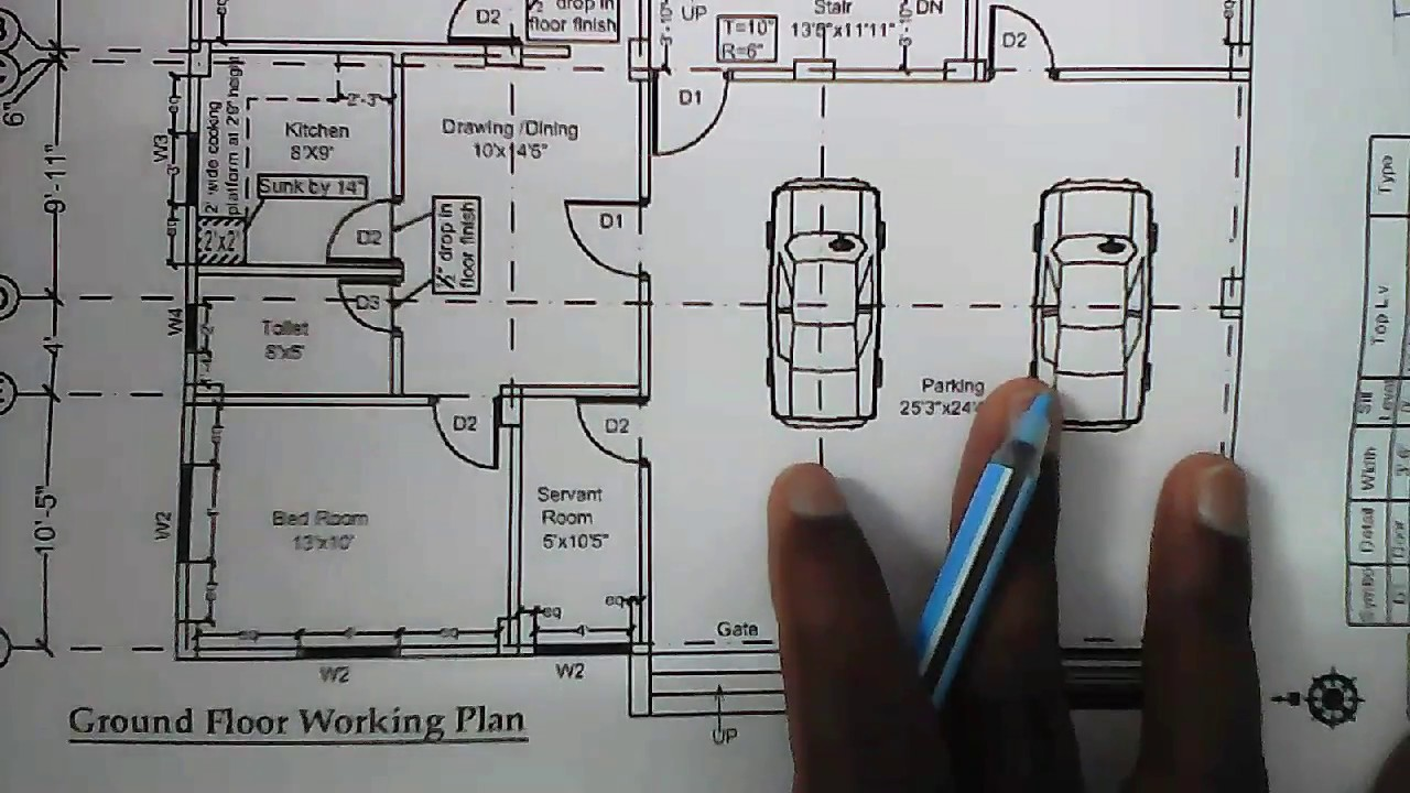 How To Study Civil Engineering Drawing Working Floor Plan Drawing Study By Rockers Civilian Youtube