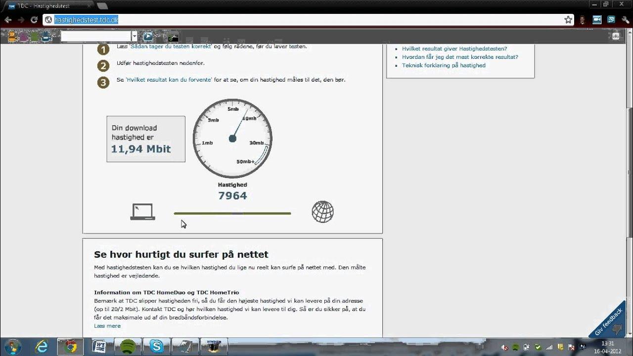 tdc hastighedstest mac