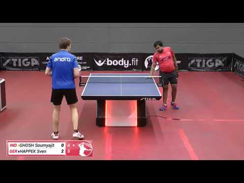 Soumyajit Ghosh Vs Sven Happek (Challenger Series, April 5th 2019, Group Match)