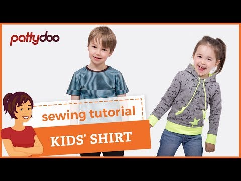 How to Sew a T-Shirt for Kids - A Step by Step Sewing Tutorial - YouTube