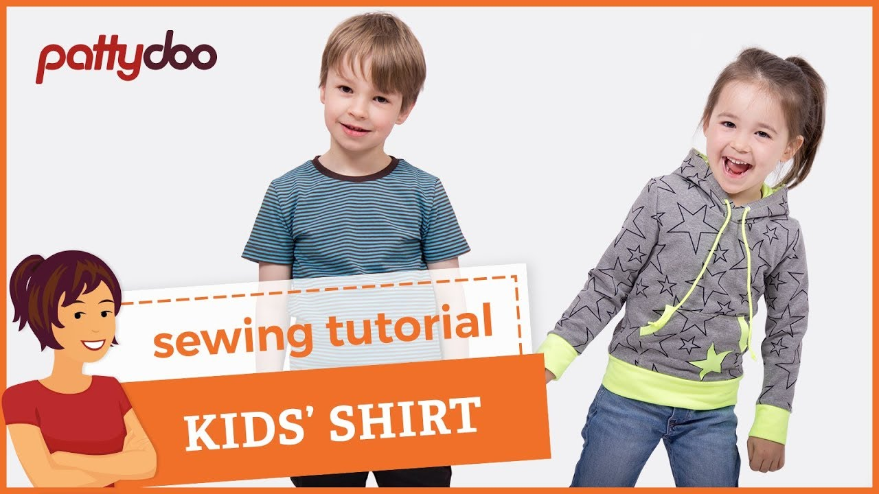 2513c08a2 How to Sew a T-Shirt for Kids - A Step by Step Sewing Tutorial - YouTube