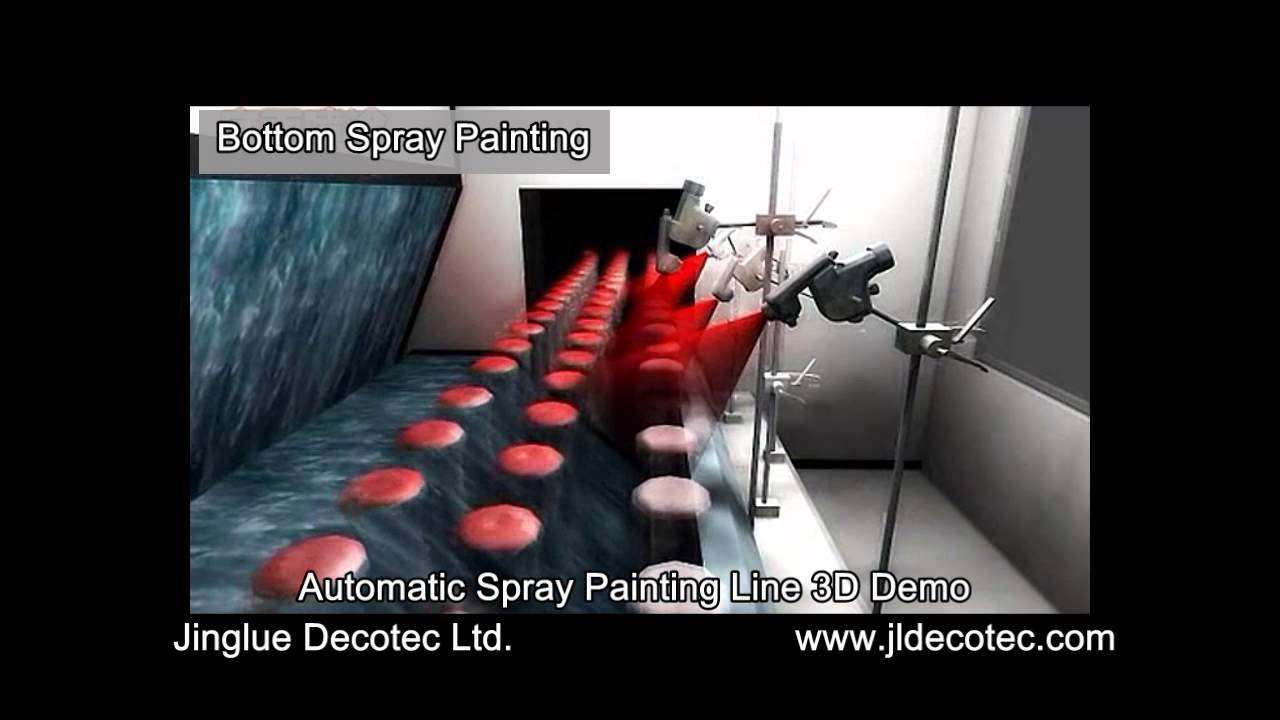 Automatic Glass Bottle Spray Painting Line 3d Demo Youtube
