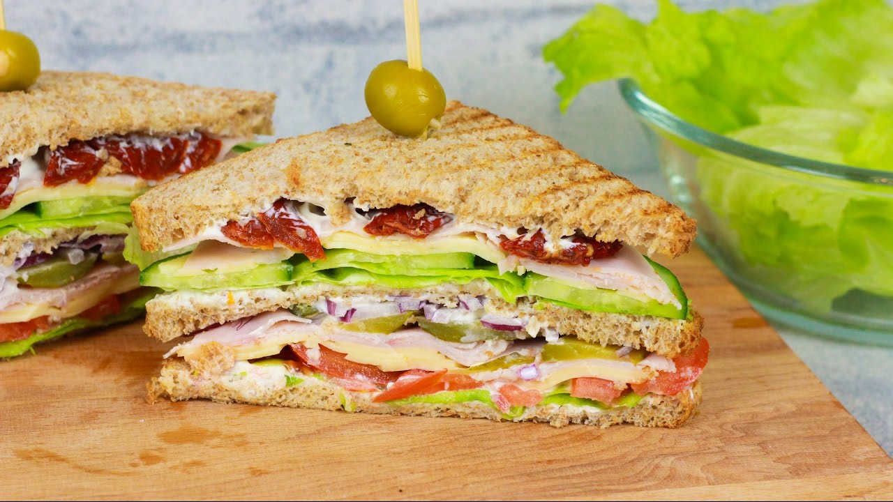 Bestes Sandwich Rezept Mit Sour Cream Club Sandwich Youtube