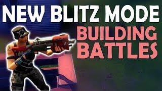 INSANE BUILDING BATTLES | NEW BLITZ GAME MODE | TAKING THE HIGHGROUND - (Fortnite Battle Royale)