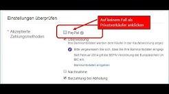Privatverkauf immer OHNE Paypal