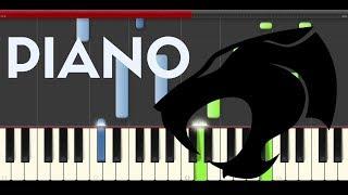 Thundercats Theme Piano Midi tutorial Sheet app Cover Karaoke