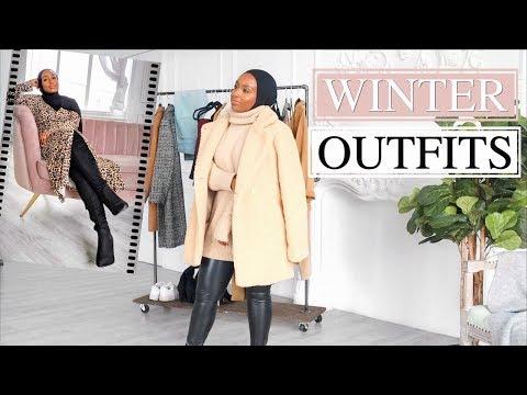 WINTER OUTFIT IDEAS 2018! | Lookbook & Haul | Aysha Abdul