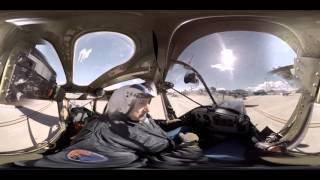 100% Drones. 360º Cabina Cessna L 19 Bird Dog, 1949 injected