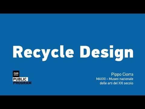 "Lecture ""Recycle Design"" by Pippo Ciorra"