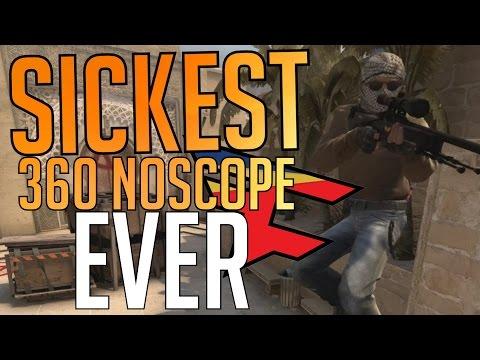 CS:GO - FAT MAN HITS INSANE 360 NOSCOPE