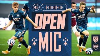 OPEN MIC | Martin Odegaard | West Ham vs Arsenal (3-3) | Compilation