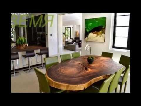 Оригинальные столы из дерева своими руками