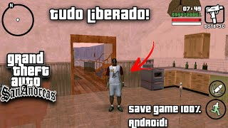 Como Colocar um Save Game 100% no seu GTA San Andreas para Android