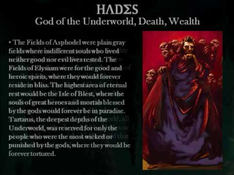 an analysis of hades as the richest god In ancient greek mythology, hades, is the god of the underworld hades is the first born son of the titan kronos and brother to the olympian gods zeus , poseidon , hera , hestia , and demeter  the greek underworld was a place of darkness, swamps, and black rivers.