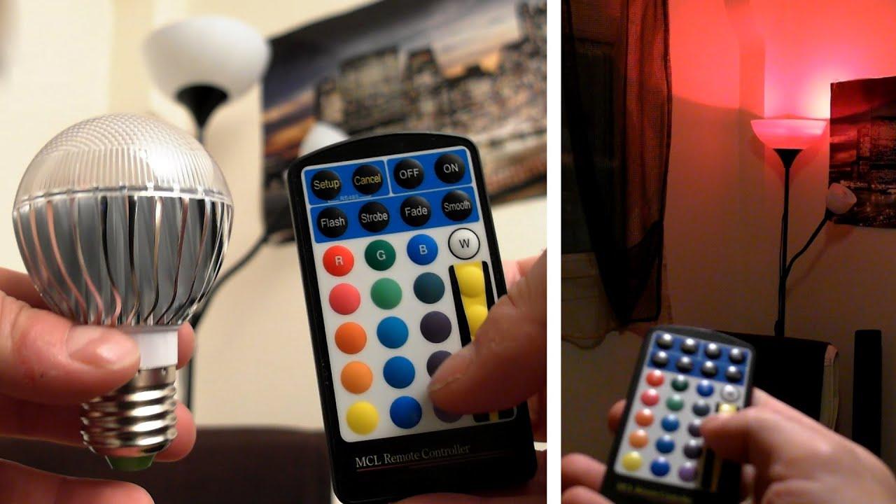 Remote Controlled Multi Color LED Light Bulb