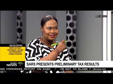 SARS presents preliminary tax results