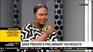 SARS presents preliminary tax results