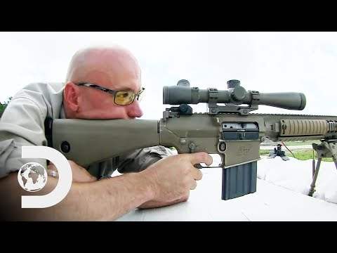 Conducting A Test To Try Out The M110 Semi-Automatic Sniper Rifle   Future Weapons