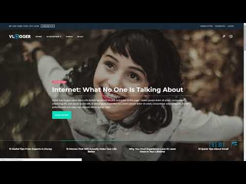 Vlogger - HTML Video Website Template For Youtubers, Online Courses A